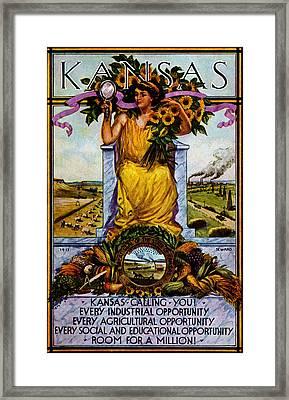 1911 Kansas Poster Framed Print