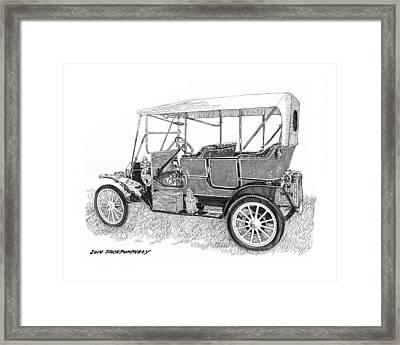 1911 Maxwell A B Framed Print by Jack Pumphrey