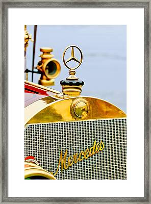 1911 Mercedes 50 Hp Maythorn Tourer Hood Ornament Framed Print by Jill Reger