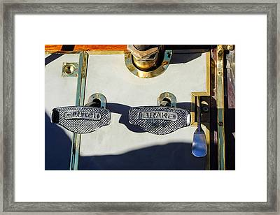 1911 Pope Hartford Model W 4 Cylinder 50 Hp 7 Passenger Brake-clutch Pedals Framed Print by Jill Reger