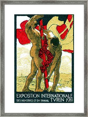 1911 Turin Exposition Poster Framed Print by Historic Image