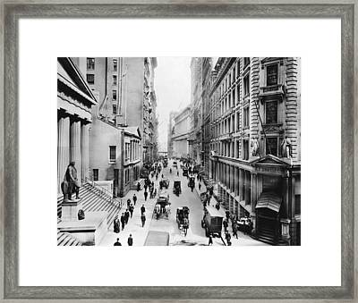 1911 Wall Street Framed Print by Underwood Archives