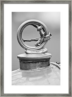 1912 Gobron-brillie 12 Cv Skiff Hood Ornament 2 Framed Print by Jill Reger