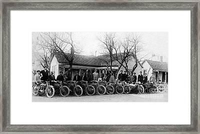 1912 Harley Motorcycle Club Framed Print