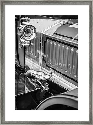 1912 Rolls-royce Silver Ghost Rothchild Et Fils Style Limousine Snake Horn -0711bw Framed Print by Jill Reger
