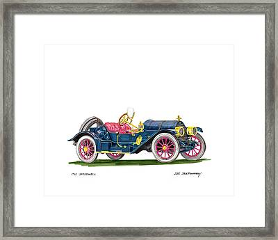 1912 Speedwell Speed Car Framed Print by Jack Pumphrey