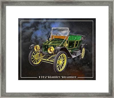 1912 Stanley Steamer Framed Print by Jack Pumphrey