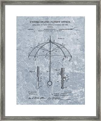 1912 Umbrella Patent Framed Print by Dan Sproul