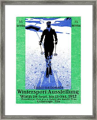 1912 Vienna Winter Sports Framed Print by Historic Image