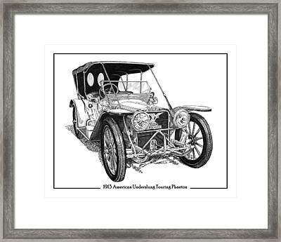 1913 American Underslung Framed Print by Jack Pumphrey