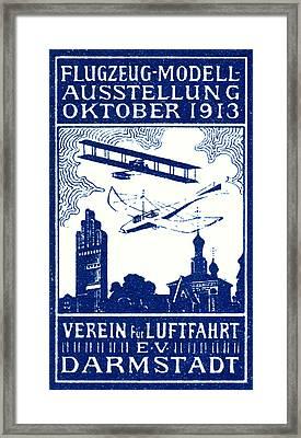 1913 Darmstadt Air Show Framed Print