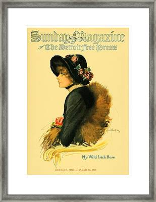 1913 - Detroit Free Press - Sunday Magazine Cover - Color Framed Print
