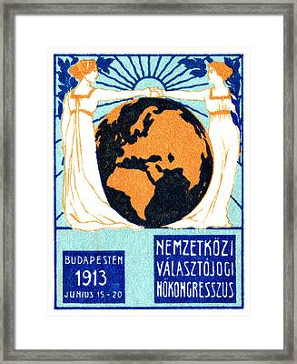 1913 International Woman's Suffrage Framed Print