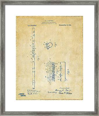 1914 Flute Patent - Vintage Framed Print