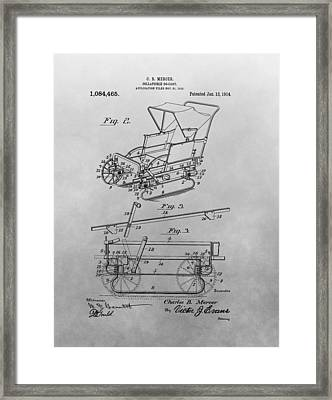 1914 Go Cart Patent Drawing Framed Print by Dan Sproul