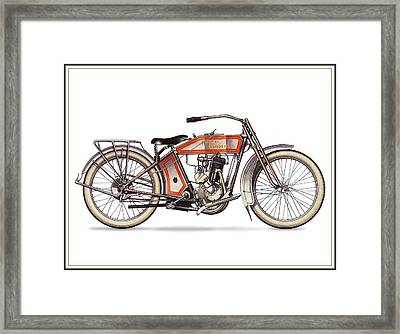 1914 Harley Davidson 35ci Model 10b Framed Print