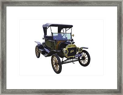 1914 Model T Ford Antique Car Framed Print by Keith Webber Jr