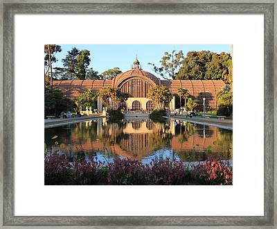 1914 Redwood Lathe Botanical Building Framed Print