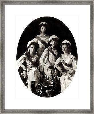 1914 The Romanov Children Framed Print