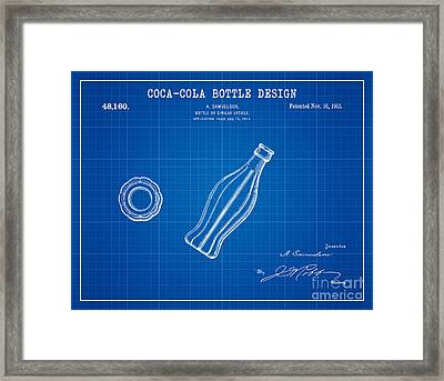 1915 Coca Cola Bottle Design Patent Art 2 Framed Print