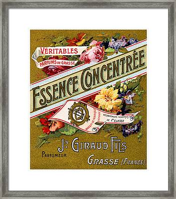 1915 Essence Concentree French Perfume Framed Print