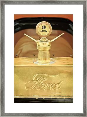 1915 Ford Depot Hack Emblem - Moto Meter Hood Ornament Framed Print by Jill Reger