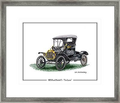 1915 Ford Model T Poster Framed Print by Jack Pumphrey
