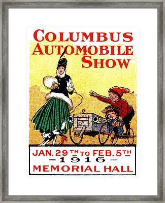 1916 Columbus Auto Show Framed Print