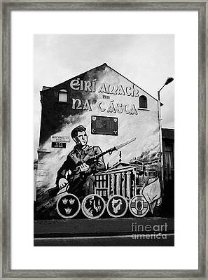 1916 Dublin Easter Rising Commemoration Republican Wall Mural Beechmount Rpg Belfast Framed Print by Joe Fox
