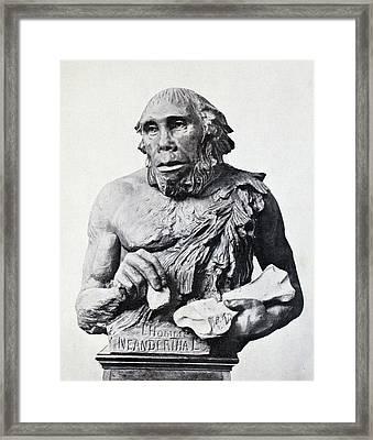 1916 First 3d Neanderthal Reconstruction Framed Print by Paul D Stewart