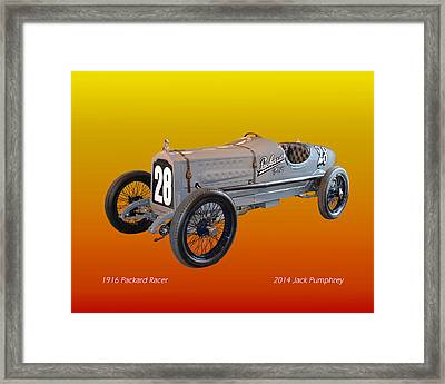 1916 Packard Twin Six Racer Framed Print by Jack Pumphrey