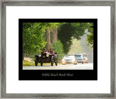 1916 Stutz Series B Bearcat - Pebble Beach Rush Hour Framed Print by Jill Reger