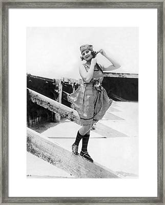 1917 Bathing Suit Fashion Framed Print by Underwood Archives