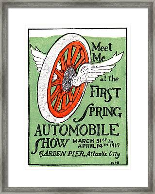 1917 Spring Auto Show Framed Print by Historic Image