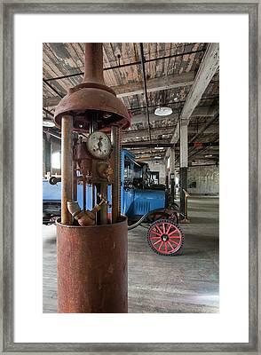 1918 Gasoline Pump Framed Print by Jim West