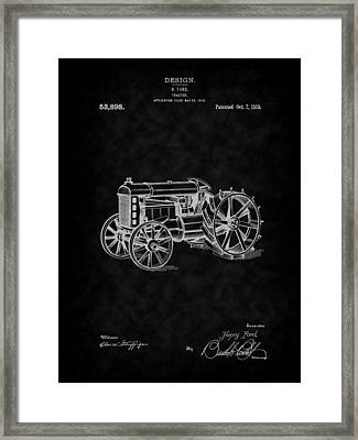 1919 Ford Tractor Design Patent Art-bk Framed Print by Barry Jones