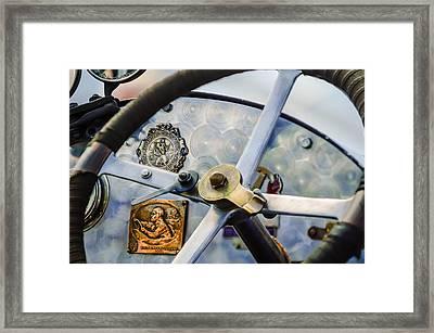 1920 Bugatti Type 13 Steering Wheel - Dashboard -1634c Framed Print by Jill Reger
