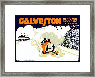 1920 Galveston Texas Auto Race Framed Print by Historic Image