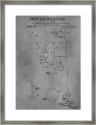 1920 Hot Air Balloon Framed Print