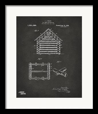 Log Cabin Art Digital Art Framed Prints