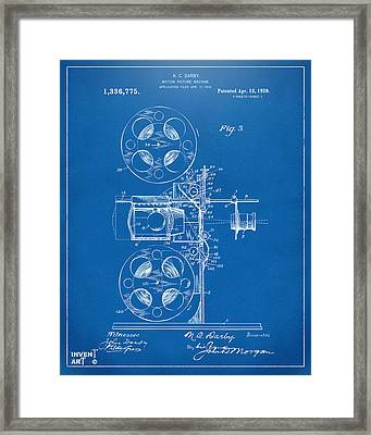 1920 Motion Picture Machine Patent Blueprint Framed Print