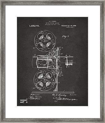 1920 Motion Picture Machine Patent Gray Framed Print