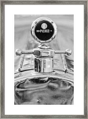 1920 Pierce-arrow Model 48 Coupe Hood Ornament - Motometer Framed Print by Jill Reger
