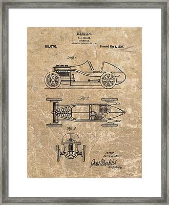 1920 Roadster Patent Framed Print by Dan Sproul