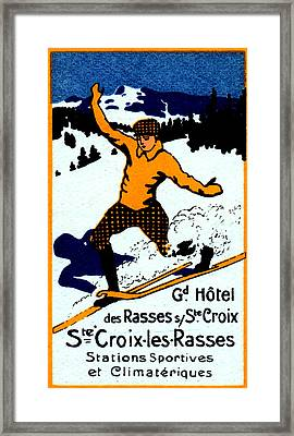 1920 St. Croix Winter Sports Framed Print by Historic Image