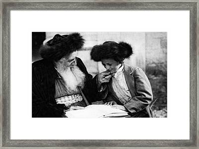 1920 Studying The Torah No.2 Framed Print by Historic Image