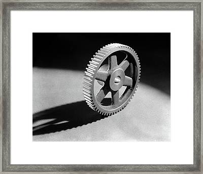 1920s 1930s 1940s Round Machined Framed Print