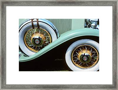 1920s 1930s Front Wheel And Spare Tire Framed Print