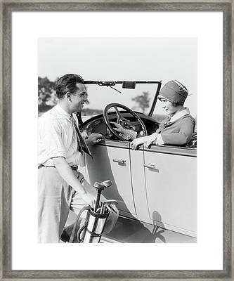 1920s 1930s Man In Shirt And Tie Framed Print