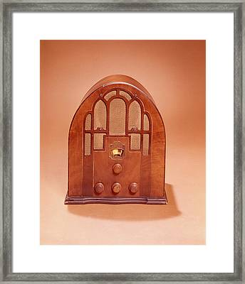 1920s 1930s Old Time Cathedral Style Framed Print